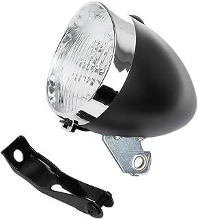 Gazechimp LED Luz Delantero de Bicicleta Retro Accesorio Frontal de Soporte de Vendimia 3 Faros Lámpara de Ciclismo