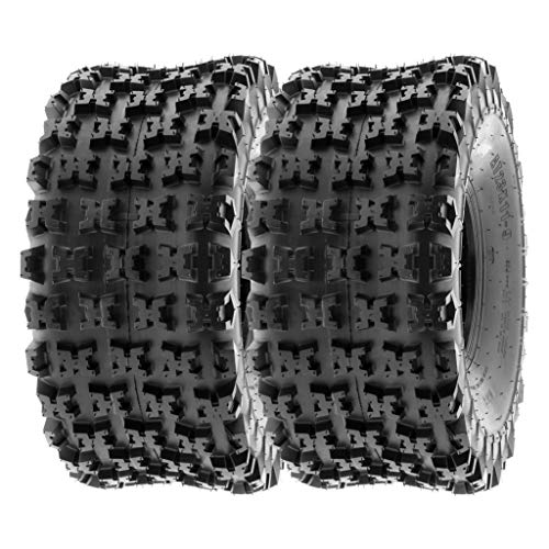 SunF 20x11-8 20x11x8 ATV UTV Tires 6 PR Tubeless A027 [Set of 2]