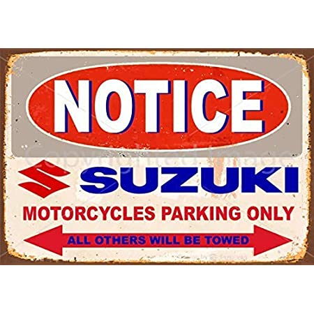 NOTICE  INDIAN MOTORCYCLE   PARKING ONLY METAL TIN SIGN POSTER WALL PLAQUE