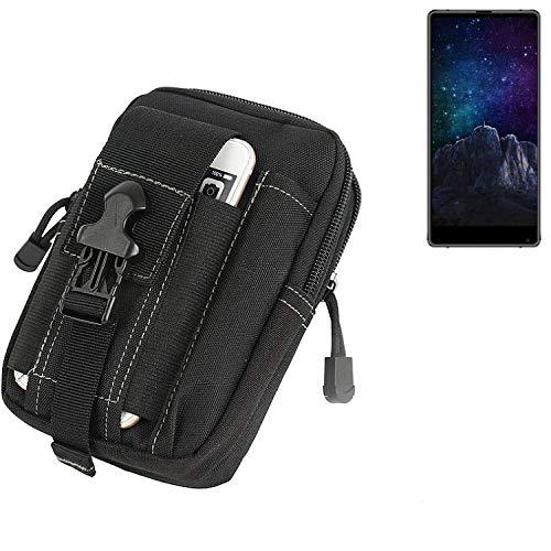 K-S-Trade Gürtel Tasche Für M-Horse Pure 2 Gürteltasche Holster Schutzhülle Handy Hülle Smartphone Outdoor Handyhülle Schwarz Zusatzfächer