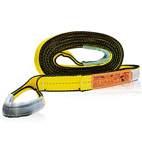 """KwikSafety (Charlotte, NC) Mighty Sumo 2""""x 16' Poly Web Sling   Lifting Strap for Construction   ASME OSHA   6400lbs Vertical 5100lbs Choker 12800lbs Basket   Rigging Moving Towing Hoisting Work Gear"""