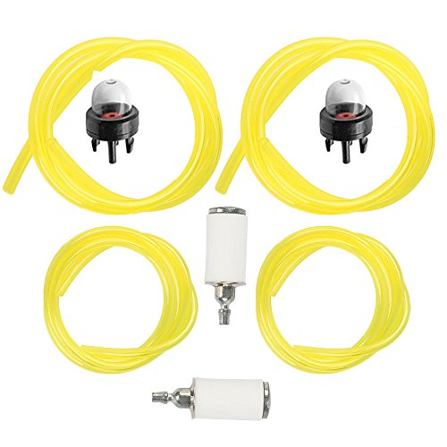 Milttor 6616 Fuel Lines with 530095646 Fuel Filter & Primer Bulb for Tygon Craftsman Poulan Chainsaw