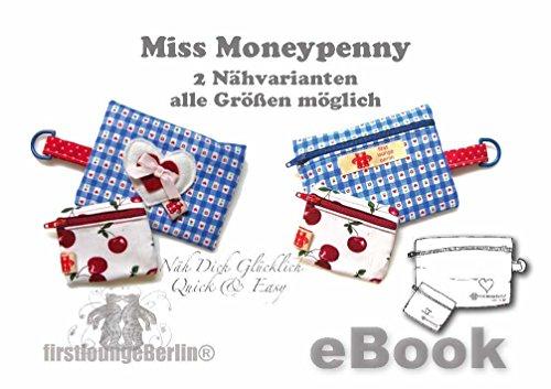 Miss Moneypenny Nähanleitung mit Schnittmuster auf CD für Tasche, Börse, Geldbeutel in vielen Größen