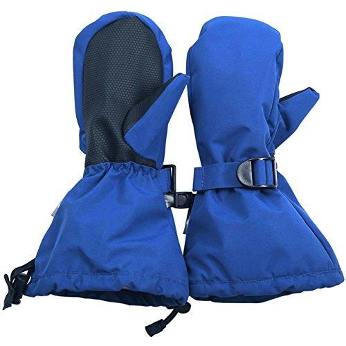 Twinklebelle Design Inc. JAN & JUL Wasserdichte bleib dran Fäustlinge für Babys Kleinkinder und Kinder(L:6-8Y, Mit Daumen: Kaiserliche Blau)