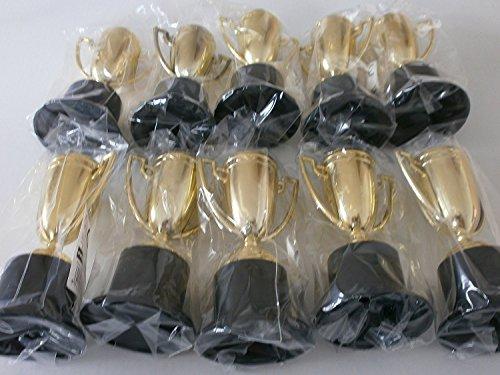 Schnooridoo 12 x goldene Pokale Kunststoff 10 cm Mitgebsel Give Away