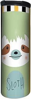Tree-Free Greetings Barista Tumbler, Vacuum Insulated Travel Coffee Tumbler, 17oz Stainless Steel Mug, Sloth Animoji (BT20064)