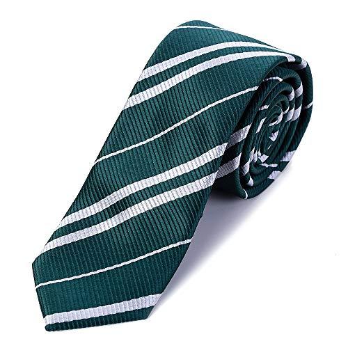 Funnlot Zauberer Schule Krawatte Party Krawatte Cosplay Krawatte für Party Kostüm Krawatte für Halloween Weihnachten Party Kostüm Zubehör Krawatte Party täglichen Gebrauch (grün)