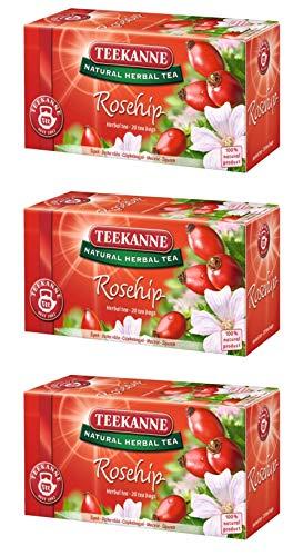 Teekanne Rosehip Flower Tea Pack of 3 From Europe