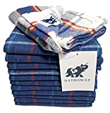 NATHAWAT Cotton Kitchen Cleaning Cloth Duster Napkin Multipurpose (17'x17' - inches; Multicolour) -Set of 12