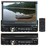 Power Acoustik Stereos - Power Acoustik PD-720B Single DIN with 7-inch Motorized LCD Touchscreen, DVD, CD/MP3 Car Stereo with Bluetooth