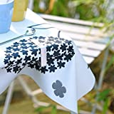 Venilia Tischtuchbeschwerer, Tischtuchhalter, Tischdeckengewichte, Tischdecken Zubehör, 4 Stück, aus Metall, 5 x 5,5 x 0,5 cm, 54205, Blume Magnet - 2