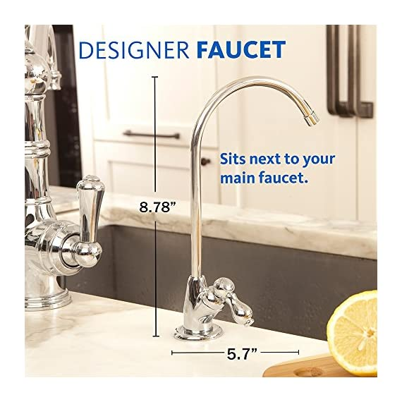 Aquasana AQ-5200.55 2-Stage Under Sink Water Filter System with Brushed Nickel Faucet 6 Removes up to 99% of 77 contaminants including lead, mercury, asbestos, herbicides, pesticides, pharmaceuticals, and more Nothing added and zero waste - no water is wasted and no harmful contaminants are added to your water during filtration Only 10 cents per gallon - 12 times the capacity of the leading gravity pitcher. Healthy, clean water for less