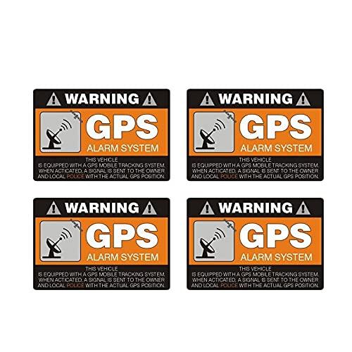 WBXZY Etiquetas engomadas del Coche 4X8CM * 5.3CM Etiqueta engomada del Coche de Advertencia Sistema de Alarma GPS Calcomanía PVC 12-0911