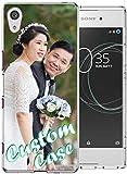 Coque de téléphone personnalisable compatible avec Sony Xperia XA1 Ultra - Coque transparente en...