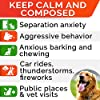STRELLALAB Hemp Calming Treats for Dogs - Made in USA with Hemp Oil - Dog Anxiety Relief - Natural Separation Aid - Stress Relief - Fireworks - Storms - Aggressive Behavior - Barking - Bacon #1