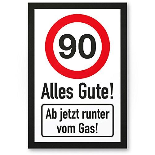 Bedankt! 90 jaar Alles Gute - Runter von Gas - Cadeau 90. Verjaardag, cadeau-idee Verjaardagscadeau Neunstigste, verjaardagsdeco/partydecoratie/feestaccessoires/verjaardagskaart