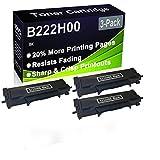 Paquete de 3 cartuchos de impresora láser B2236DW, MB2236ADW, MB2236ADWE (alta capacidad) de repuesto para Lexmark B222H00