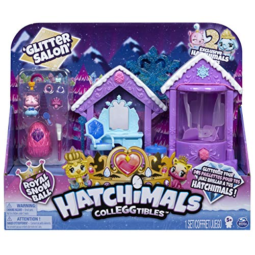 Hatchimals 6047221 - CollEGGtibles Glitzer - Salon Spielset