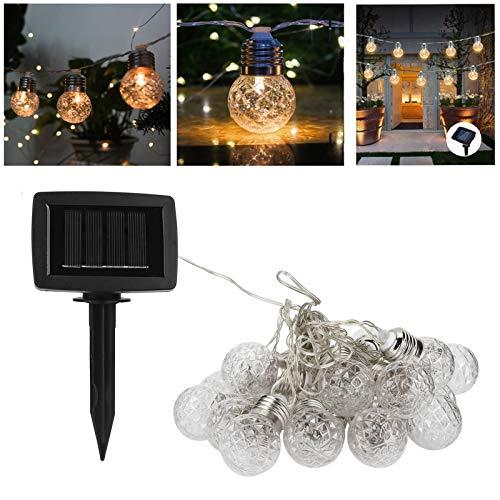 Snufeve6 Decoración de Festivales en casa Cadena de luz LED, Cadena de luz de energía Solar, Bodas románticas Fiestas de cumpleaños para reuniones Familiares Decoración de Patio