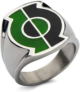 Animewild DC Comics Green Lantern Split Lantern Stainless Steel Ring