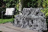fellcastell Toscana Lammfelldecke 200x155 cm Stone Grey Patchwork Rückseite Leder
