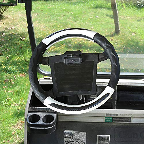 """10L0L Golf Cart Steering Wheel Cover for Club Car, 14"""" Easy to Install and Feels Good in Handling (NOT Fits EZGO and Yamaha)"""