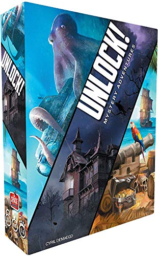 Asmodee Unlock Mystery Adventures-Juego de Mesa, edición en Italiano (8982), Color Azul, SCUNL02IT