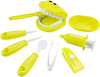 ألعاب بلاستيكية ذكية تعليمية مضحكة لأطباء الأسنان للأطفال من ليكوجيل – 9 قطع صغيرة وتعليمية ذكية لعبة تعليمية من البلاستيك