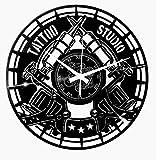 Instant Karma Clocks - Reloj de Pared Vintage Hecho a Mano, Tatuaje Tribal, Tienda, Estudio o Tatuaje