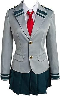 NoveltyBoy Boku no Hero Academia My Hero Academia Tsuyu School Uniform Jacket Shirt Coat Skirt Cosplay Costume