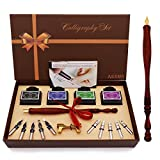New model wooden calligraphy pen set, which Includes the pen nib as well as four...
