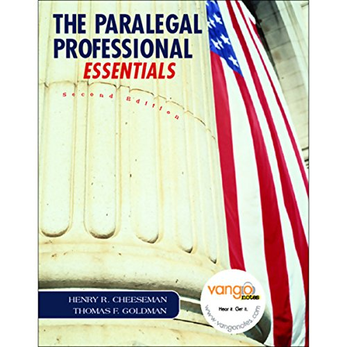VangoNotes for The Paralegal Professional, Essentials, 2/e audiobook cover art