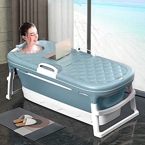 InLoveArts Badewanne Faltbar Erwachsene Groß, Mobile Badewanne Erwachsene xl, Faltbare Badewanne Erwachsene for Erwachsenen Mit Abdeckung Ideal für kleine Badezimmer (138 * 62 * 52 cm)