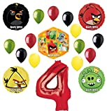 Angry Birds 2 Party Supplies 4th Birthday Balloon Bouquet Decorations