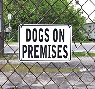 Dogs ON Premises Warning Signs 2SIGN Set, Metal, Heavyweight Aluminum