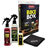 P4B | Pflegeset für Ihr Fahrrad - Bike Box | Komplettreiniger 200 ml / Radglanz 200ml / Oelzeuch 100 ml / Mikrofasertuch | Fahrradpflege und Reinigung Set