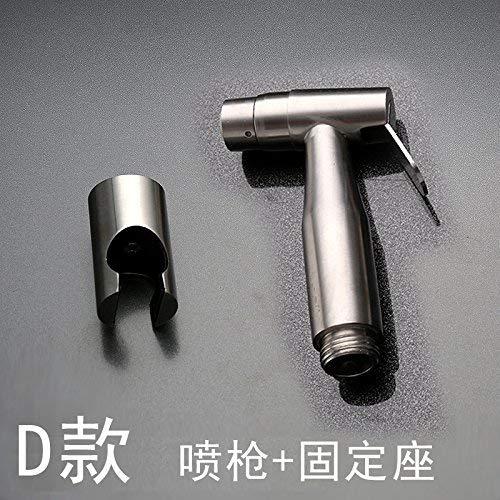 Professionele wastafelmengkraan keukenkraan 304 roestvrij staal wc-spuitpistool fittingen kit drukreiniger (C) van de sproeier. 4