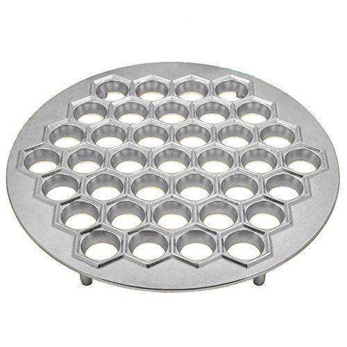 GMMH Gefüllte Teigtaschen Teigform Ausstechform Pelmeniza Maultaschenformer Ravioliformer Pelmeni Form (Aluguß Silber)