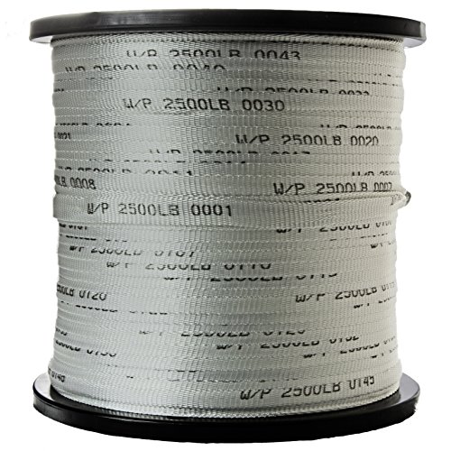 USA Made 2500 Lb 3/4' Pull Tape/Mule Webbing - 3000 FT (Many Strengths and Lengths Available)