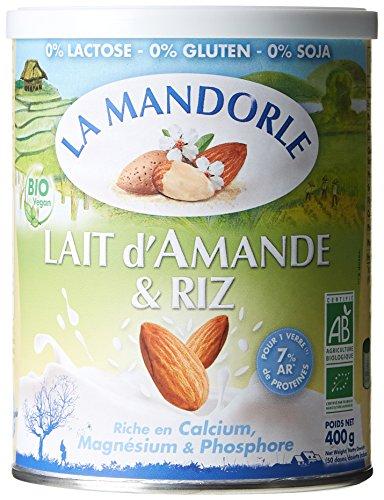 La Mandorle Lait d'Amande/Riz 400 g - Lot de 2 - BIO