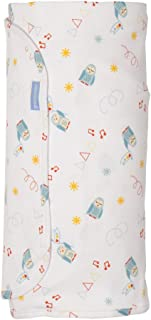 The Gro Company Parade Groswaddle for Newborn, Blue/White