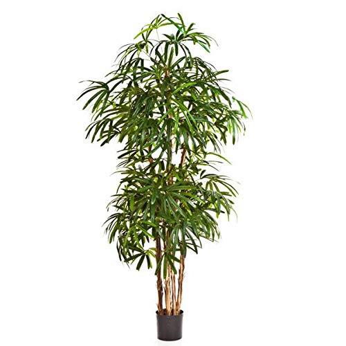 artplants.de Palmera Rhapis Artificial con 1003 Hojas, 200cm - Planta sintética - Árbol Decorativo