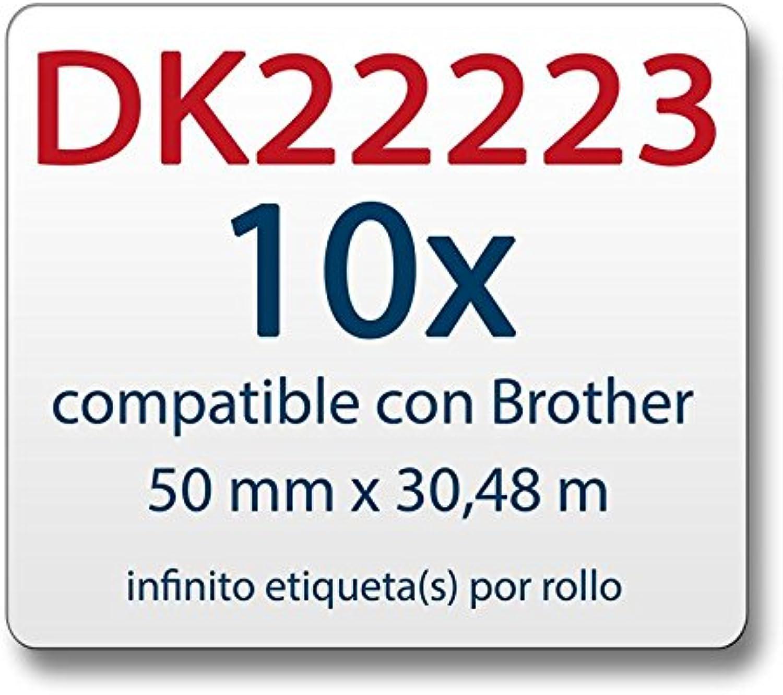 10x Label kompat. kompat. kompat. zu Brother DK22223 50 mm x 30,48 m endlos B00JUS1BYC   Wonderful  51614a