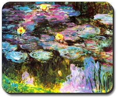 Monet: Violet Lilies - Art Plates Brand Mouse Pad