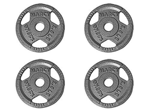 UrbanFit Pro Kit 4 Discos SemiOlimpicos Metal 1 Pulgadas 2.5 LB Entrenamiento Pesas – Plateado