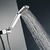 Cabezal de ducha cuadrado de alta presión, Woopower Rainfall universal de mano para ahorro de agua
