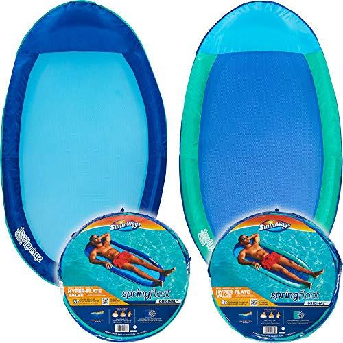 SwimWays Spring Float Original, schnell aufblasbares Float, farblich sortiert