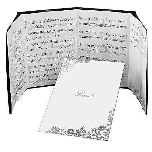楽譜ファイル 楽譜台紙 4ページ(譜面止め付き)はな 白 楽譜1枚から長くつないだ楽譜まで使える 練習用にも発表会や演奏会にも使えて人気!【楽譜 ファイル 楽譜クリップ 楽譜スタンド 楽譜カバー 楽譜かくし 楽譜バインダー ピアノ ギター】日本製