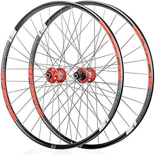 Ruedas de bicicleta de montaña, juego de ruedas de bicicleta 26/29/27,5 pulgadas juego de ruedas traseras delanteras llanta de doble pared freno de disco de liberación rápida 32 orificios 4 ruedas de