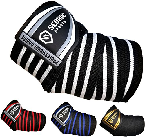 Sedroc Sports Professional Weight Lifting Elbow Wraps Powerlifting...